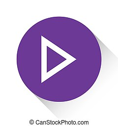 Purple Icon Isolated on a White Background - Play