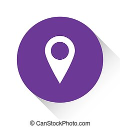 Purple Icon Isolated on a White Background - Pointer