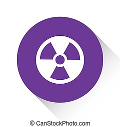Purple Icon Isolated on a White Background - Radio Active