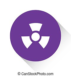 Purple Icon Isolated on a White Background - Radio Active Round
