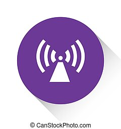 Purple Icon Isolated on a White Background - Radio Tower