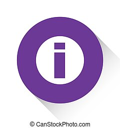 Purple Icon Isolated on a White Background - Round Info