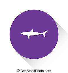 Purple Icon Isolated on a White Background - Shark