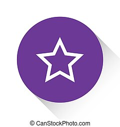 Purple Icon Isolated on a White Background - Star