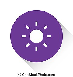 Purple Icon Isolated on a White Background - Sun