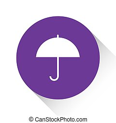 Purple Icon Isolated on a White Background - Umbrella