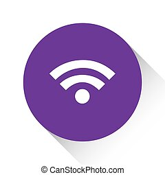Purple Icon Isolated on a White Background - Wifi