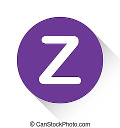Purple Icon Isolated on a White Background - Z