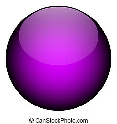 purple orb - A purple orb isolated over white- it works as a...