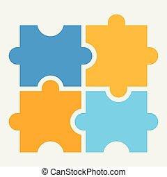 A puzzle icon