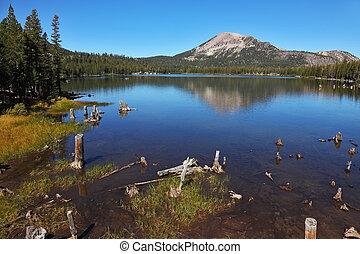 A quiet mountain lake