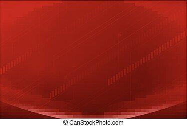 a, röd fond