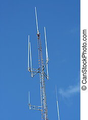 Radio Antenna - A Radio Antenna against a blue sky