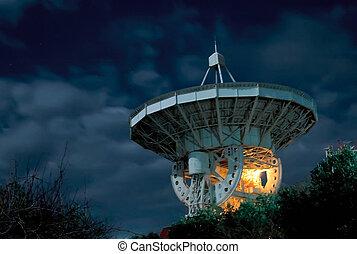 A radio telescope on the Black Sea in Crimea - One of the...