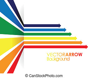 a rainbow coloured arrow line