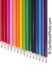 A rainbow of multicolored pencils