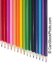 A rainbow of multicolored pencils
