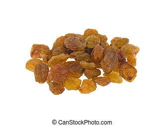 a raisin of raisins isolated on white background