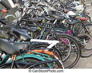 a, rang, de, bicycles
