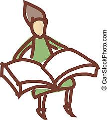 A reading boy