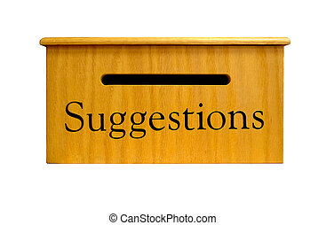 Suggestion Box - A real wooden Suggestion Box. 12MP camera.