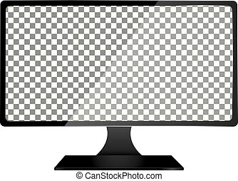 A realistic LCD / LED monitor vector illustration. Saved in EPS 10 file with 2 transparent objects and 1 object with drop shadow effect.