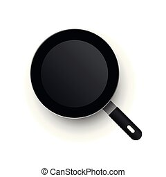 A realistic vector frying pan. View from above