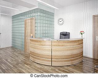 reception area - A reception area - modern interior