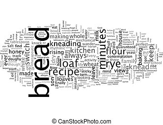 A Recipe for Rye Bread text background wordcloud concept