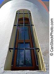 A rectangular window.