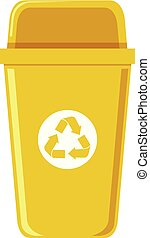 A recycle bin on white background