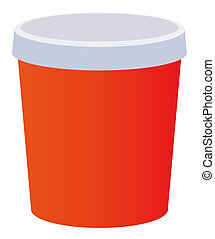 a red beverage cup isolate on a white background