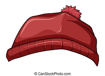 A red bonnet