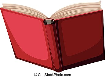 A red book on white background