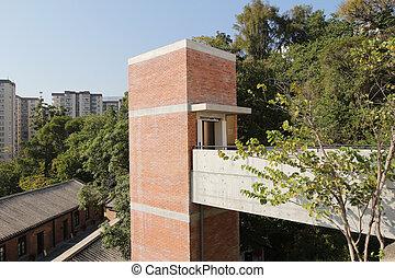 red brick Built Structure at hong kong - a red brick Built...