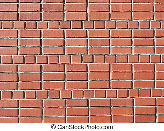 A red brick wall