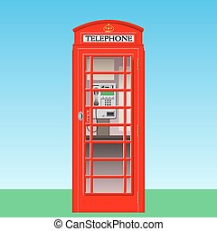 Phone Booth - A Red British Phone Booth