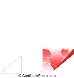 A red business card, brochure cover or presentation vector background