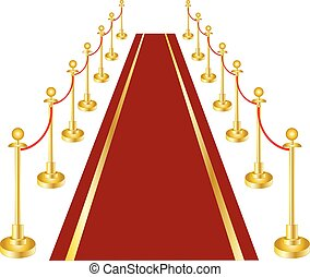 A red carpet