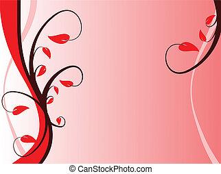 A red floral background design