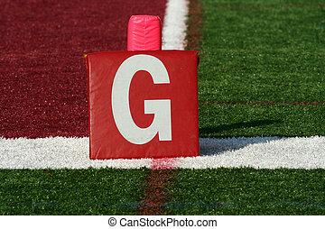 Football goal line yard m