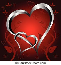 A red hearts Vakentines Day Backgroiund