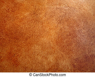 A red leather faux finish background wall.