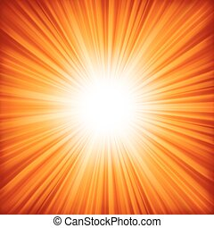 A red - orange color design with a burst. EPS 8 vector file...