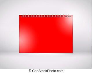 a red paper wiro bind