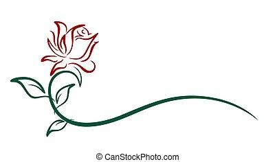 A Red rose symbol.