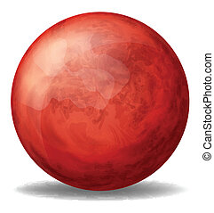 A red round ball - Illustration of a red round ball on a ...