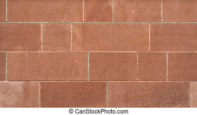 A red sandstone wall