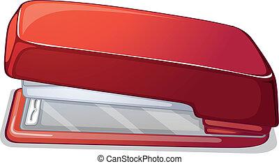 A red stapler