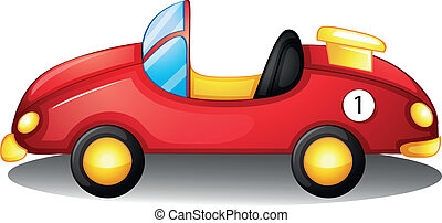 A red toy car